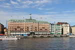 Europe - Sweden - Grand hotel and sightseeing boats pier