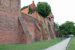 Europe - Germany - Tangermünde, castle supporting walls at Elbe river