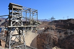 North America - USA - Arizona - Cableway and cranes for power plant support.