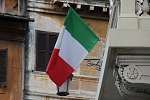 Europe - Italy - We are in Rome in Italy so green-white-red flags are present everywhere.