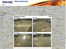 Ostrava, city traffic camera system OVANET