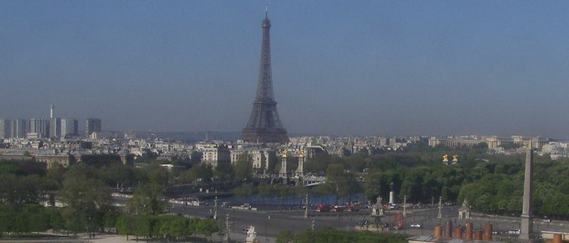 Paris skyline with Eiffel tower view