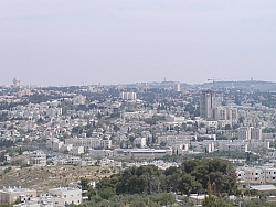 Jerusalem skyline zoom