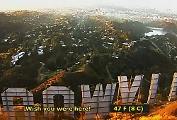 Los Angeles, Hollywood Sign from behind