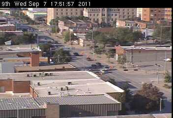 Webcam Lincoln Nebraska 9th And K Street North