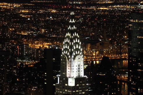 Chrysler Building pohled z Empire State Building