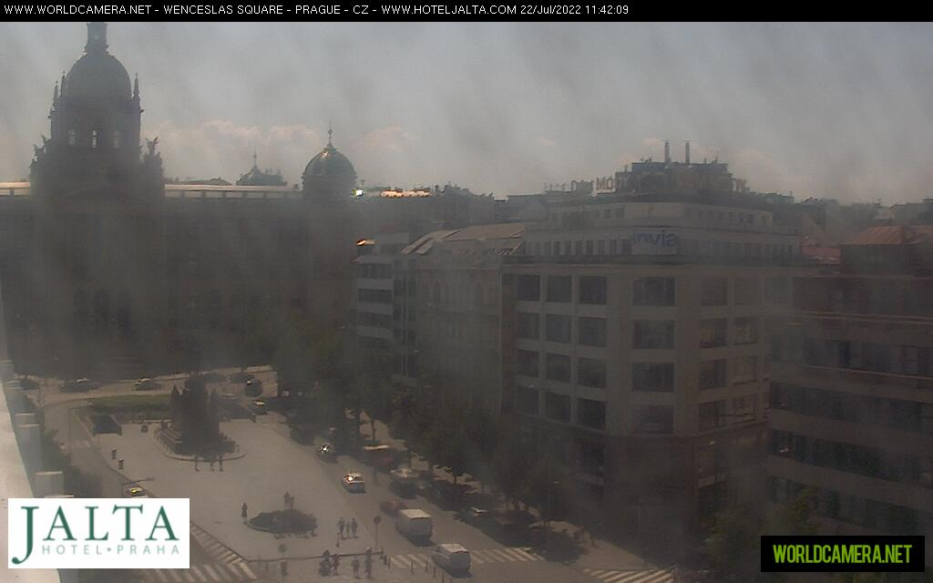 Webcam Praga vista Plaza Wenceslao